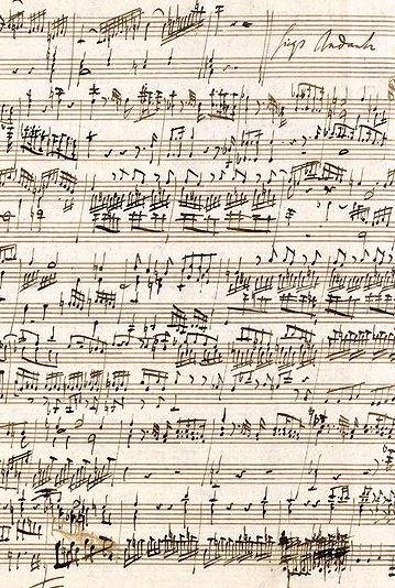 Mozart and scatology + Mozart's handwriting   Un bazar ...